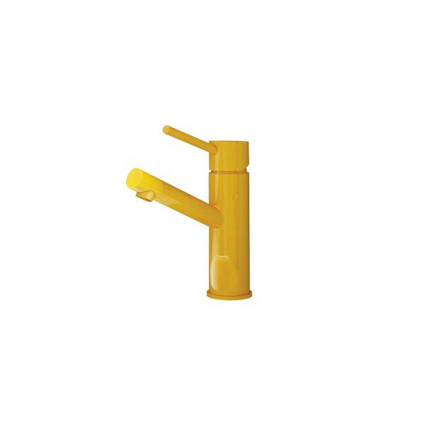 yellow mixer tap photograph