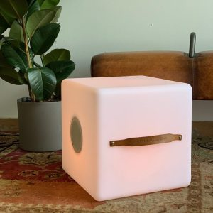 The.Cube speaker and lamp